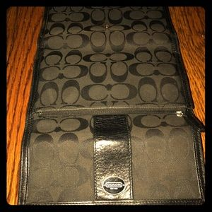 Coach wallet and checkbook